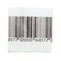 Etiquettes antivol RF Radio Fréquence 8.2 Mhz - 4cm x 4cm - avec code barre - rouleau de 1000