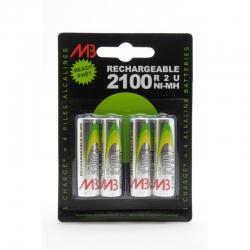 Piles rechargeables LR06 2100mAh