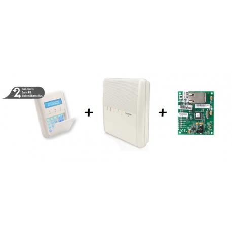 Centrale Risco Agility 3 avec carte IP et clavier LCD